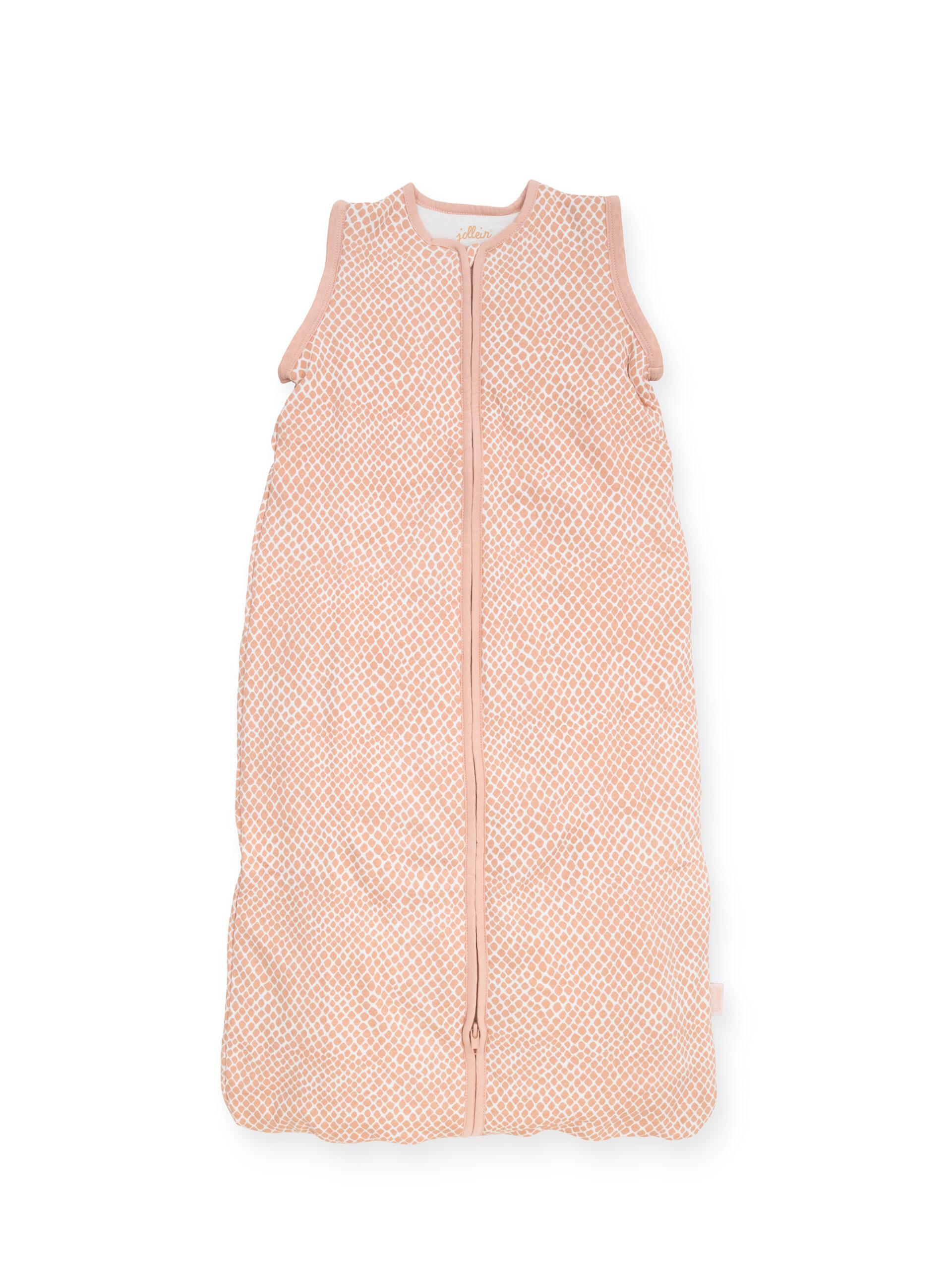 Afbeelding Babyslaapzak 110cm Snake pale pink met afritsbare mouw