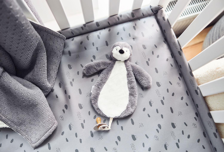 Afbeelding Speendoekje Pinguin storm grey