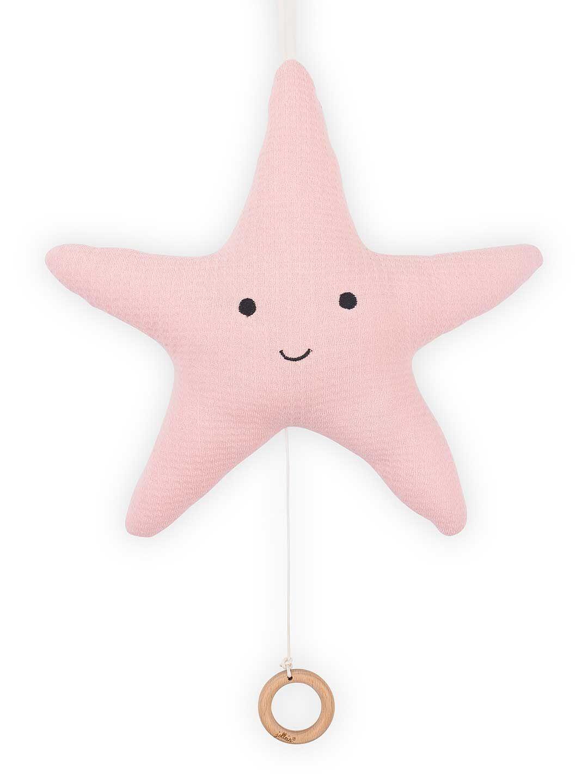 Afbeelding Muziekhanger zeester Tiny waffle soft pink