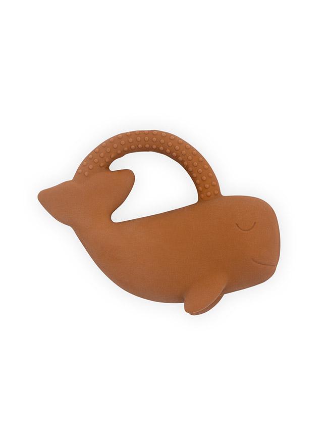 Afbeelding Jollein Bijtring Rubber Whale I caramel