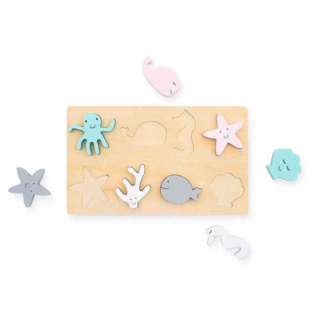 Afbeelding Puzzel Hout Sea animals