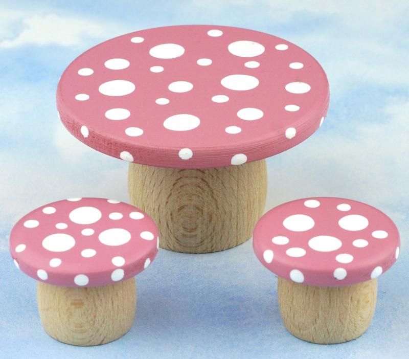 Afbeelding Droomtafeltje met krukjes Elfenroze