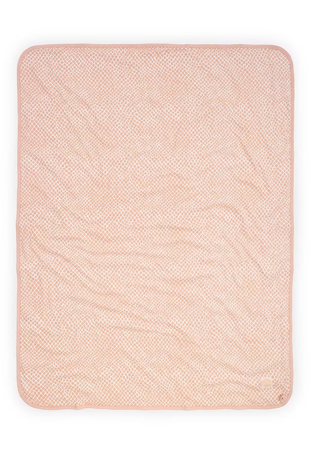 Afbeelding Deken Wieg jersey 75x100cm Snake pale pink