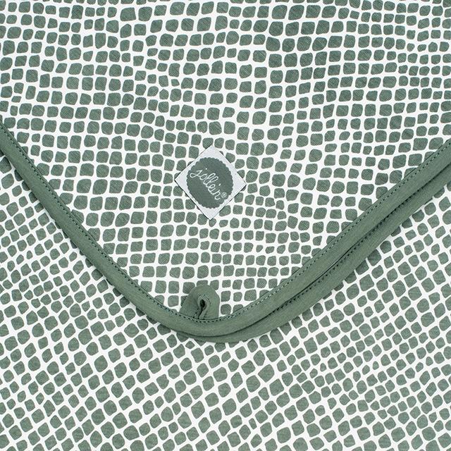 Afbeelding Deken Wieg jersey 75x100cm Snake ash green