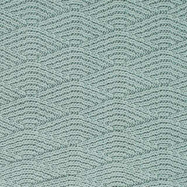 Afbeelding Deken Wieg 75x100cm River Knit ash green/coral fleece