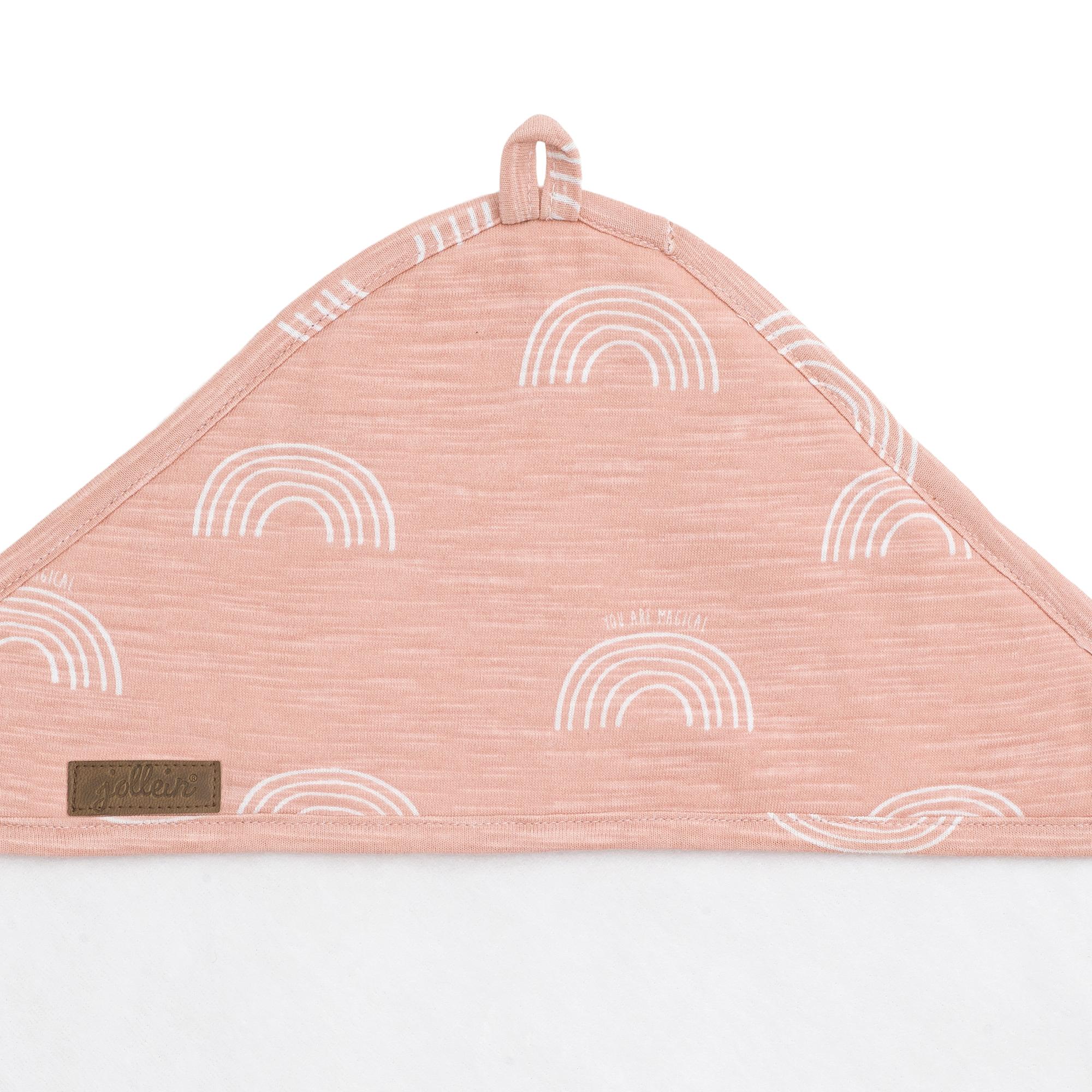 Afbeelding Badcape 100x100cm Rainbow blush pink
