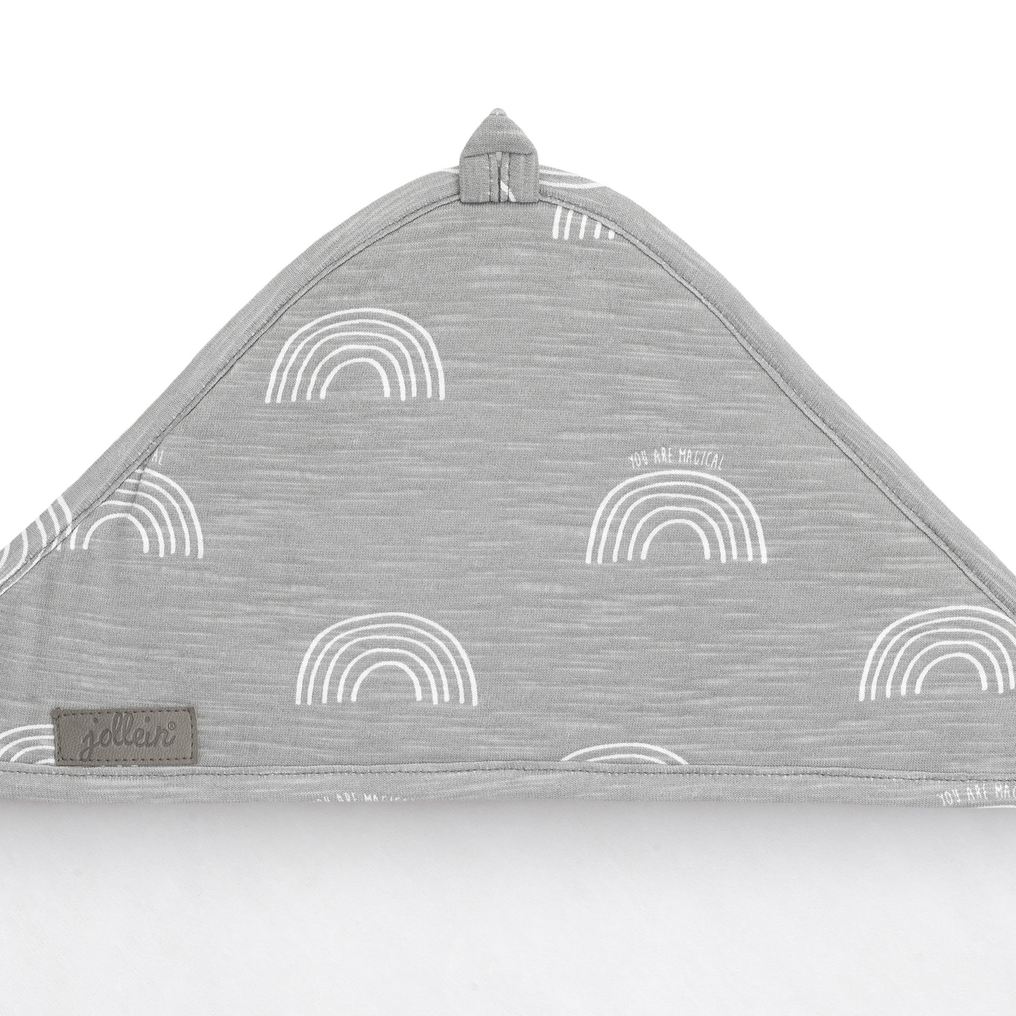Afbeelding Jollein Badcape 100x100cm I Rainbow grey
