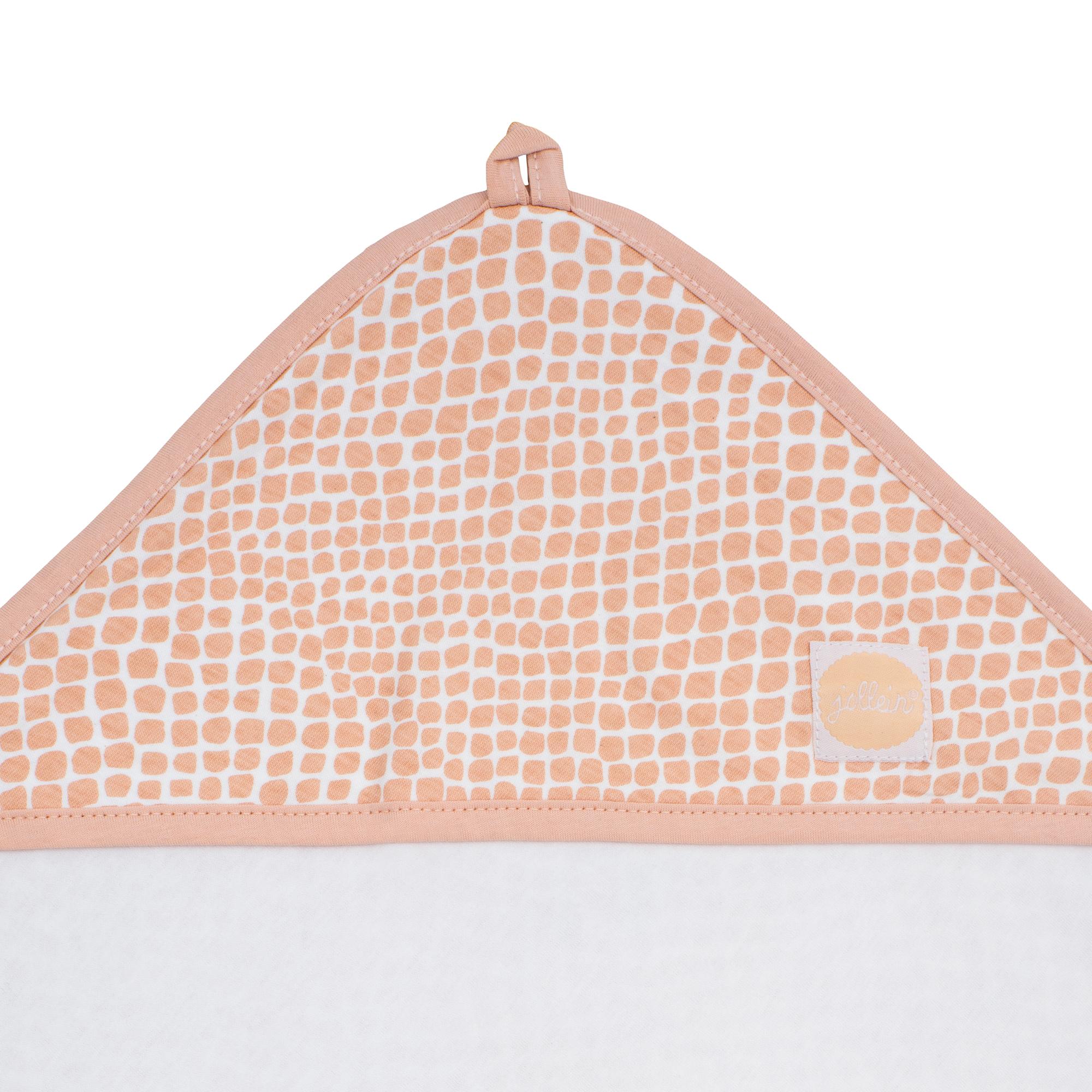 Afbeelding Badcape 75x75cm Snake pale pink