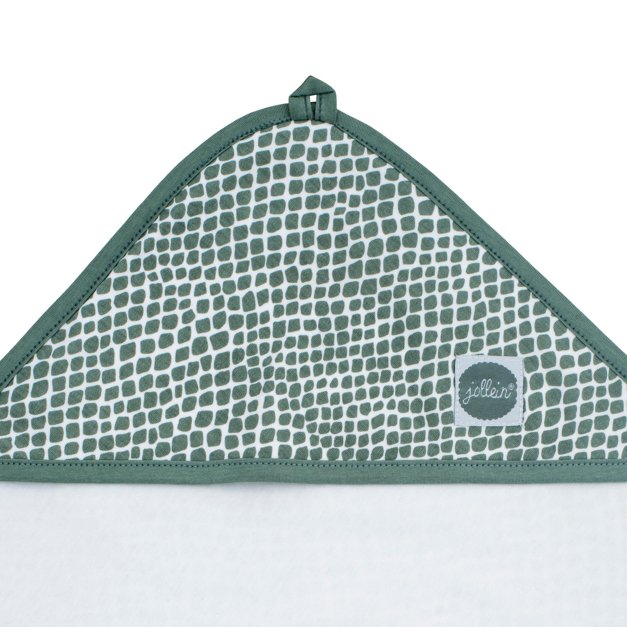 Afbeelding Badcape 75x75cm Snake ash green