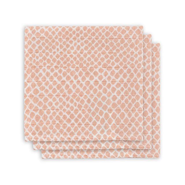 Afbeelding Monddoekjes Hydrofiel Snake pale pink (3 pack)