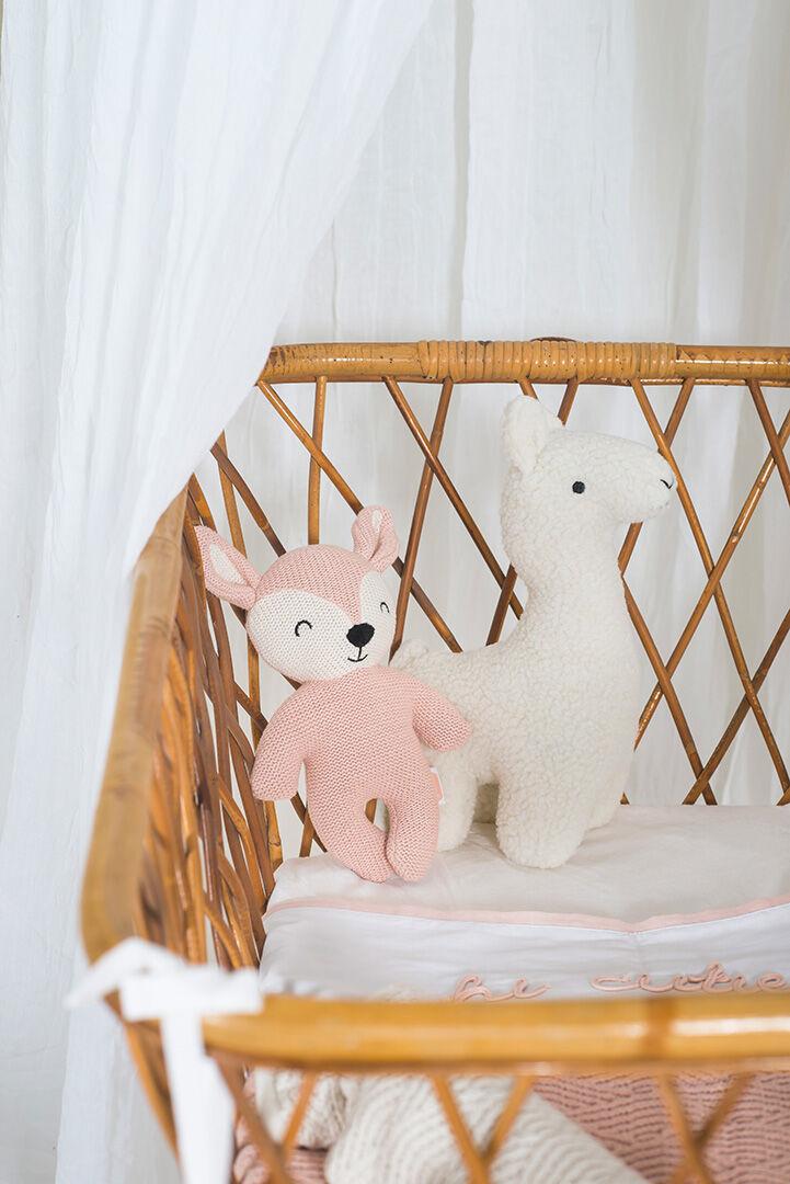 Afbeelding Knuffel Deer pale pink