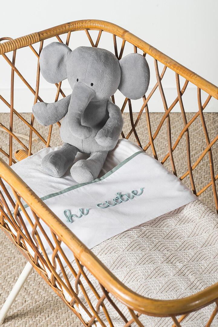 Afbeelding Deken Wieg 75x100cm River Knit cream white