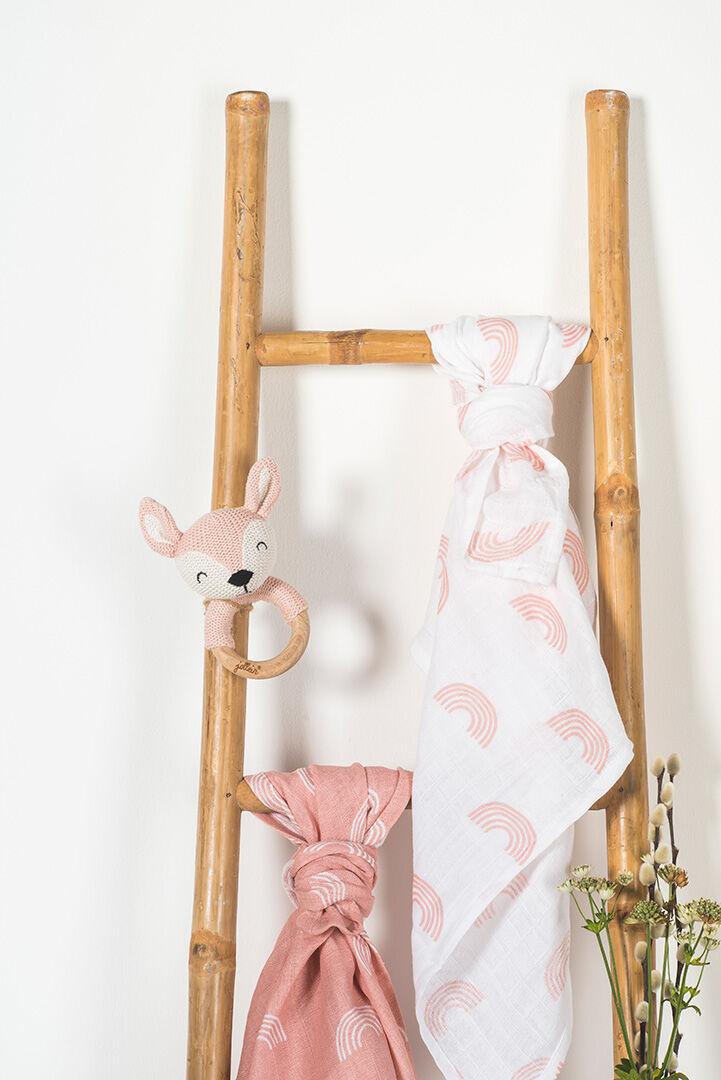 Afbeelding Bijtring Ø 7cm Deer pale pink