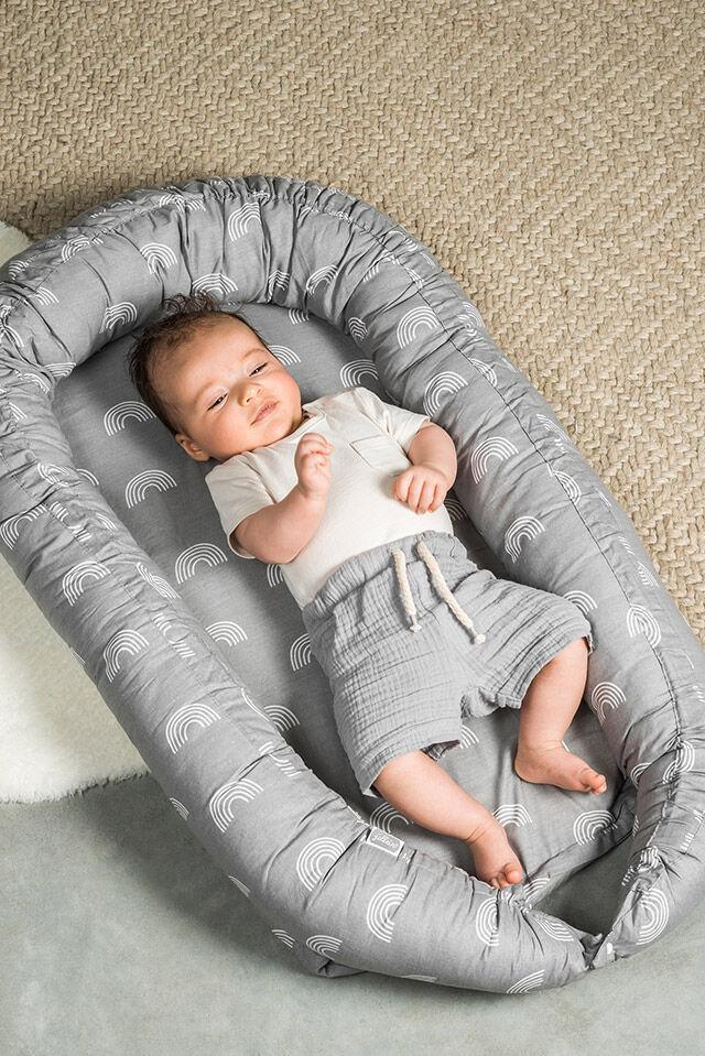 Afbeelding Babynest Rainbow grey
