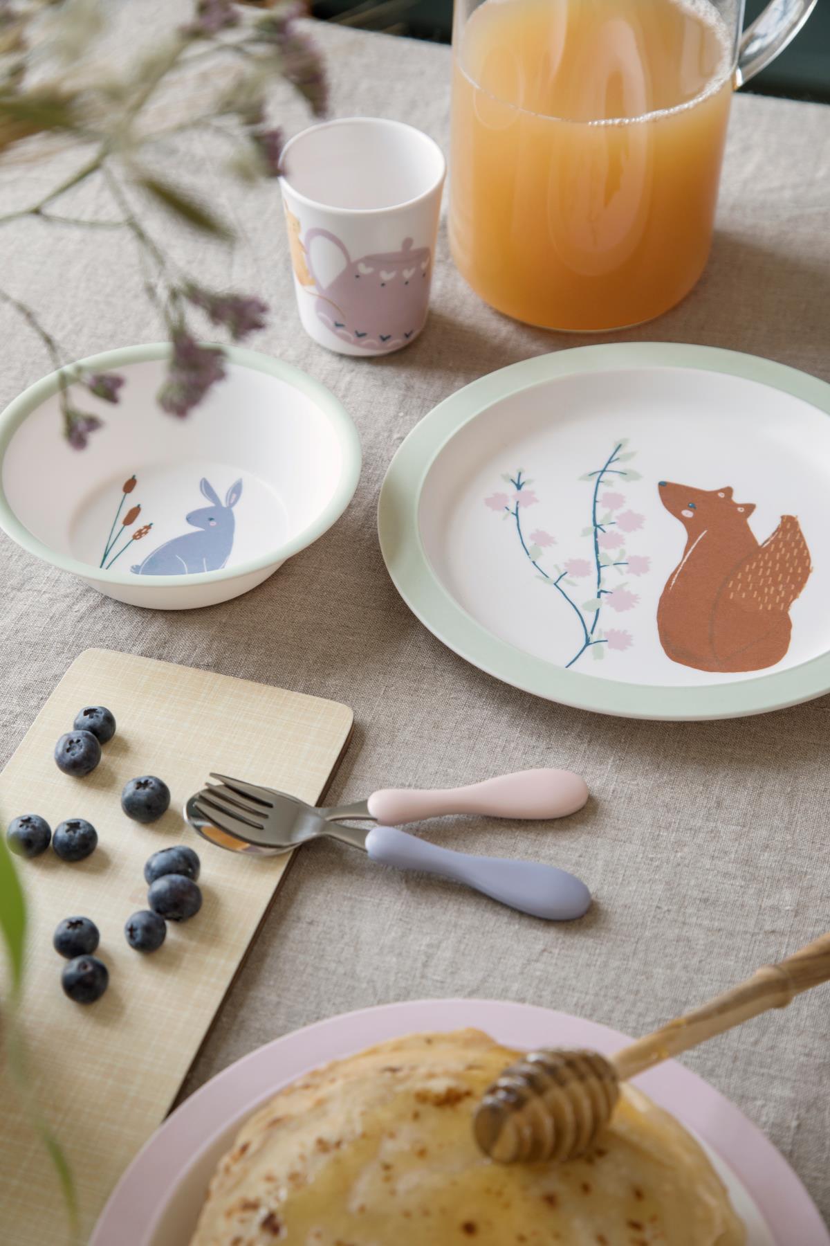 Afbeelding Melamine 5-delige eetset – Daydream
