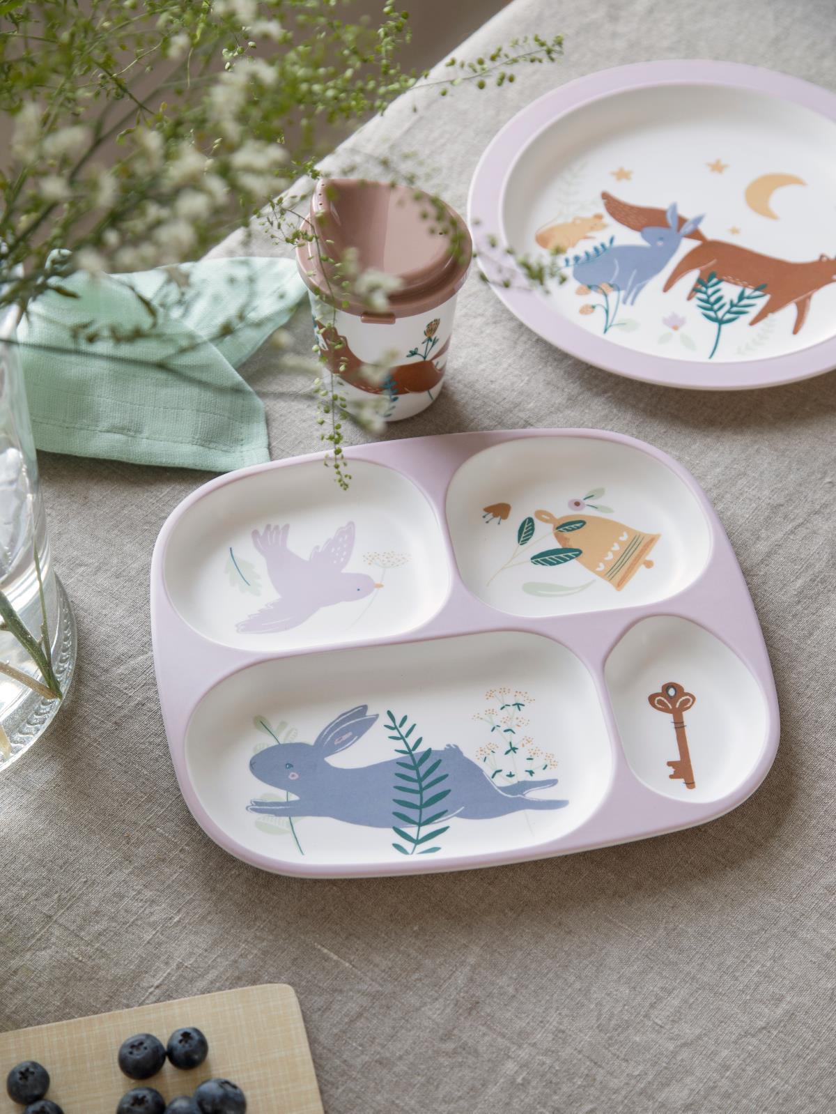 Afbeelding Melamine bord met 4 vakken Daydream