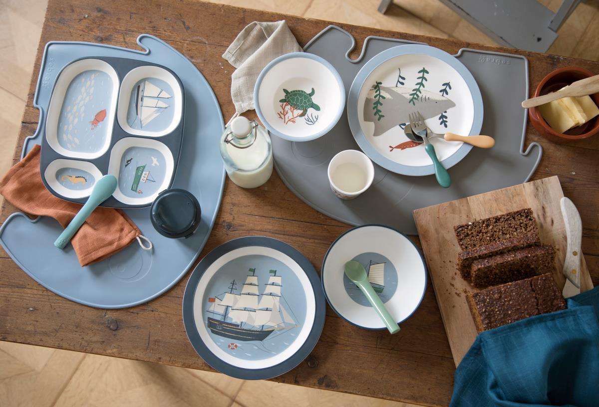 Afbeelding Melamine bord met 4 vakken – Seven seas