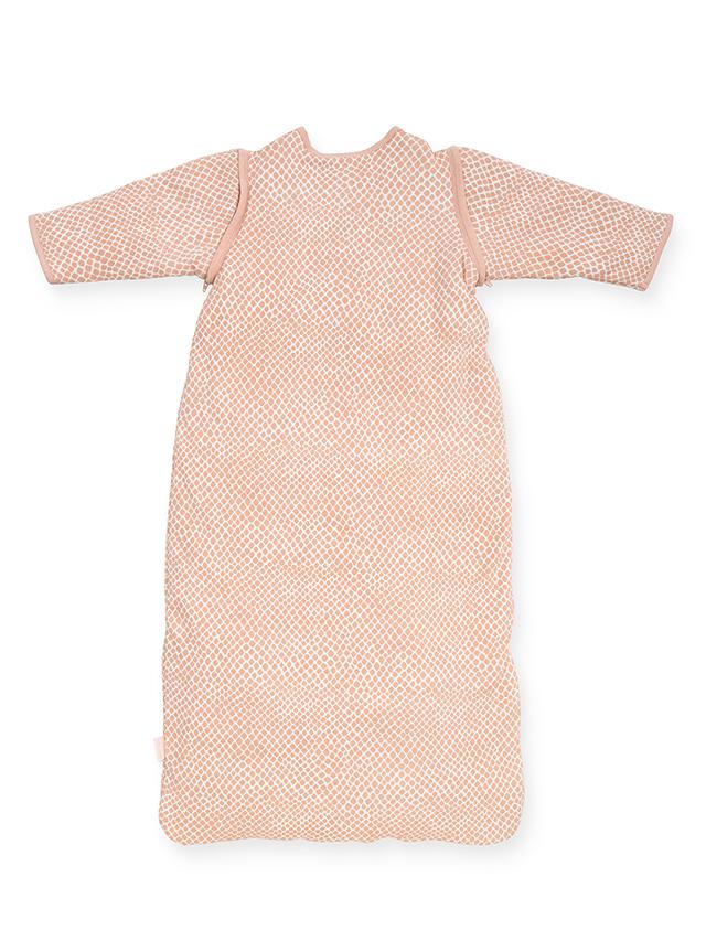 Afbeelding Babyslaapzak 90cm Snake pale pink met afritsbare mouw