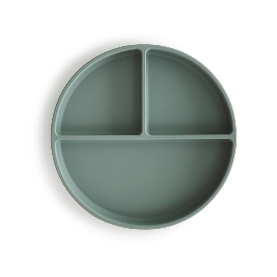 Afbeelding Mushie Anti-slip Bord met 3 vakken I Cambridge blue