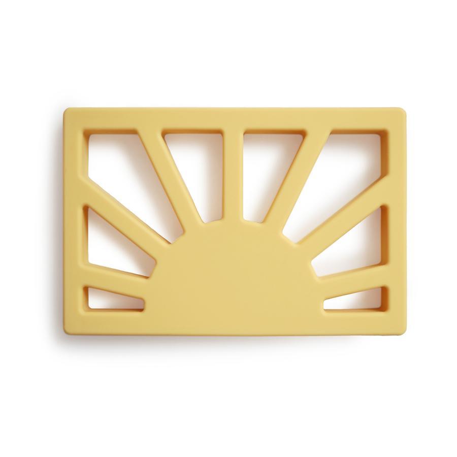 Afbeelding Siliconen Bijtring Sun – Muted Yellow