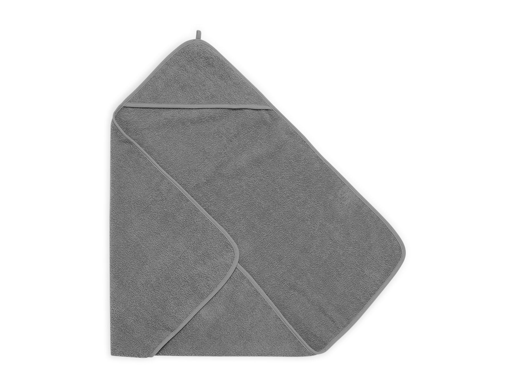 Afbeelding Jollein Badcape badstof 75x75cm I storm grey