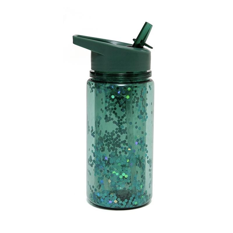 Afbeelding Drinkfles glitter Salie groen