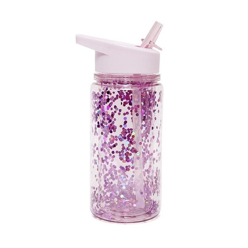 Afbeelding Drinkfles glitter Orchidee