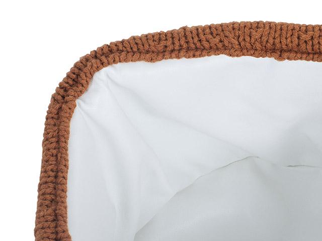 Afbeelding Opbergmandje Bliss knit caramel