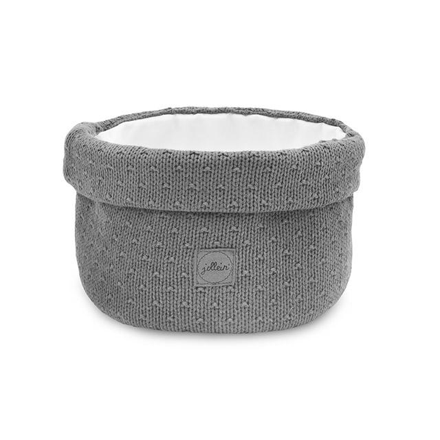 Afbeelding Jollein Opbergmandje Bliss knit I storm grey