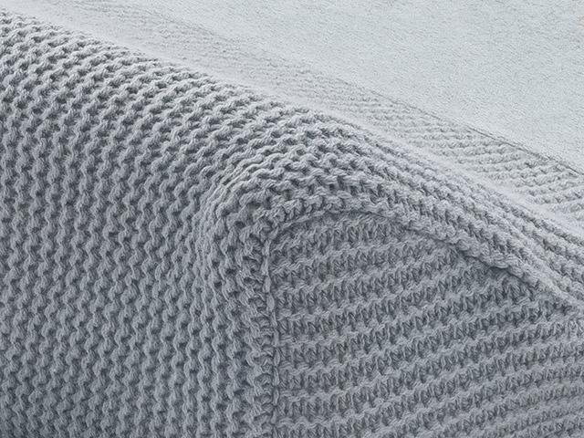 Afbeelding Aankleedkussenhoes 50x70cm Basic knit stone grey