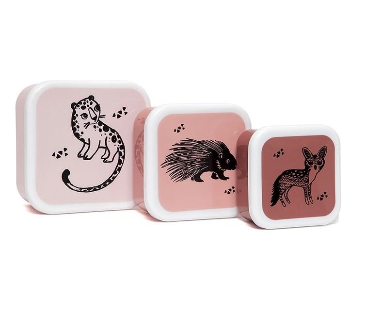Afbeelding Snackdozen – Roze met dieren