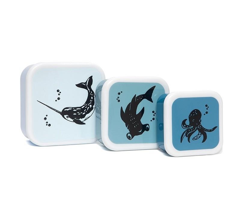 Afbeelding Snackdozen Blauw met zeedieren