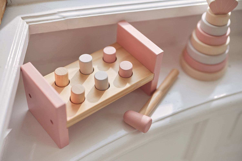 Afbeelding Houten hamerbank Pink