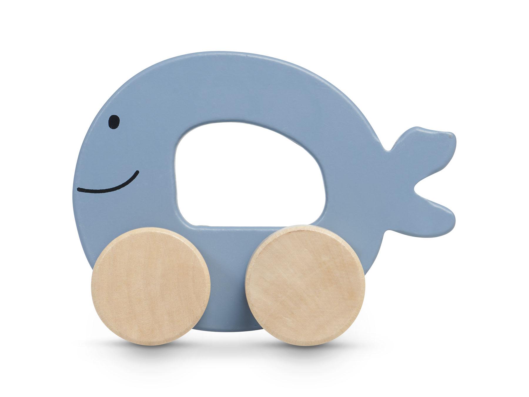 Afbeelding Jollein Houten speelgoedauto I Sea animal blue