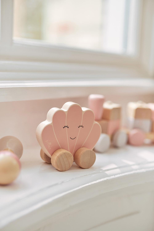 Afbeelding Jollein Houten speelgoedauto I Shell pink