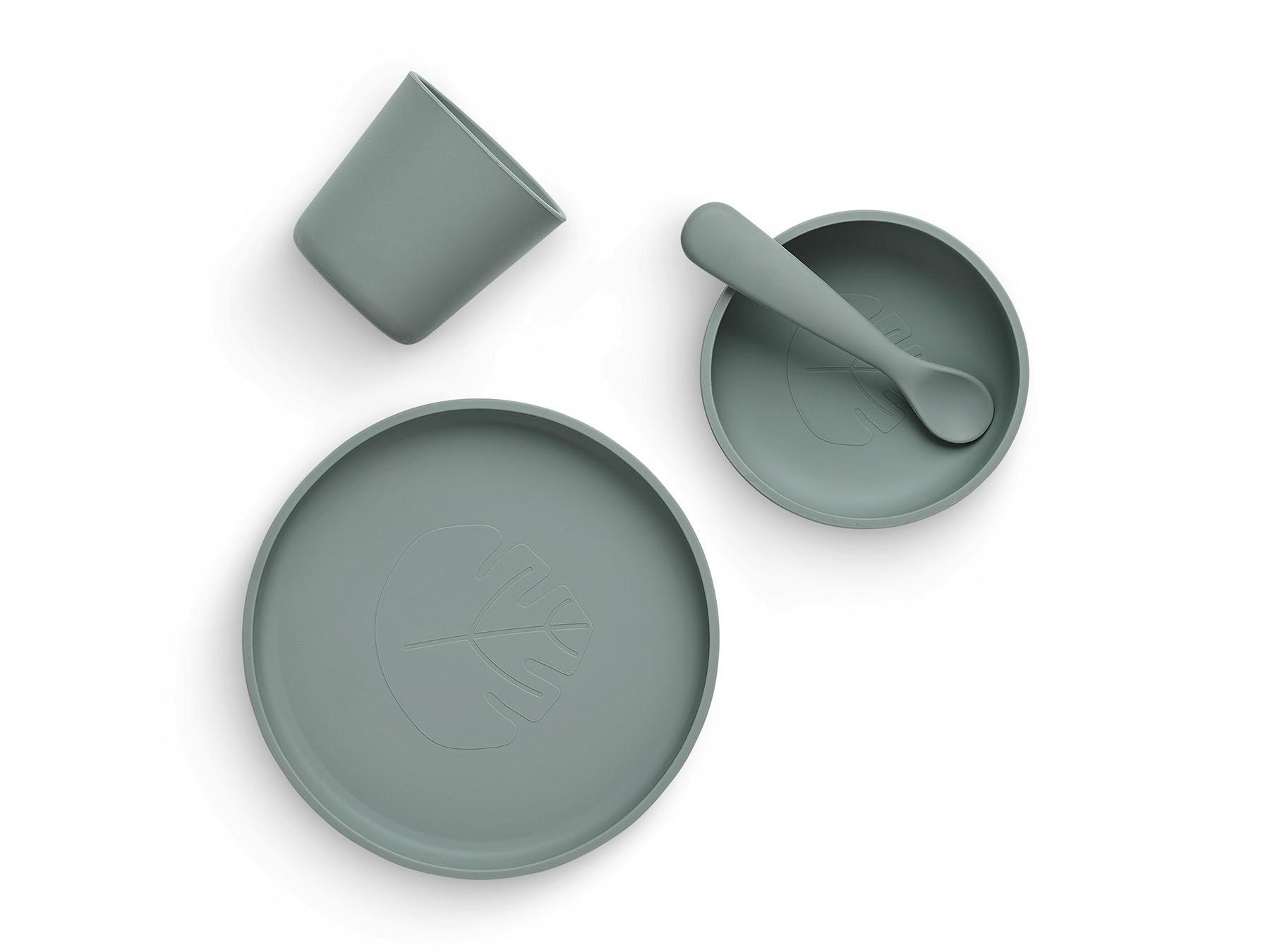 Afbeelding Jollein siliconen eetset I Ash green