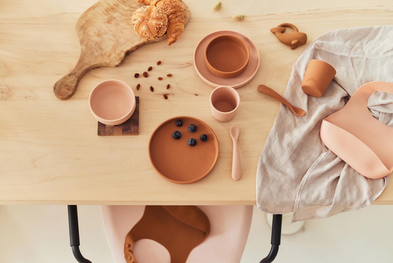 Afbeelding Jollein siliconen eetset I Caramel