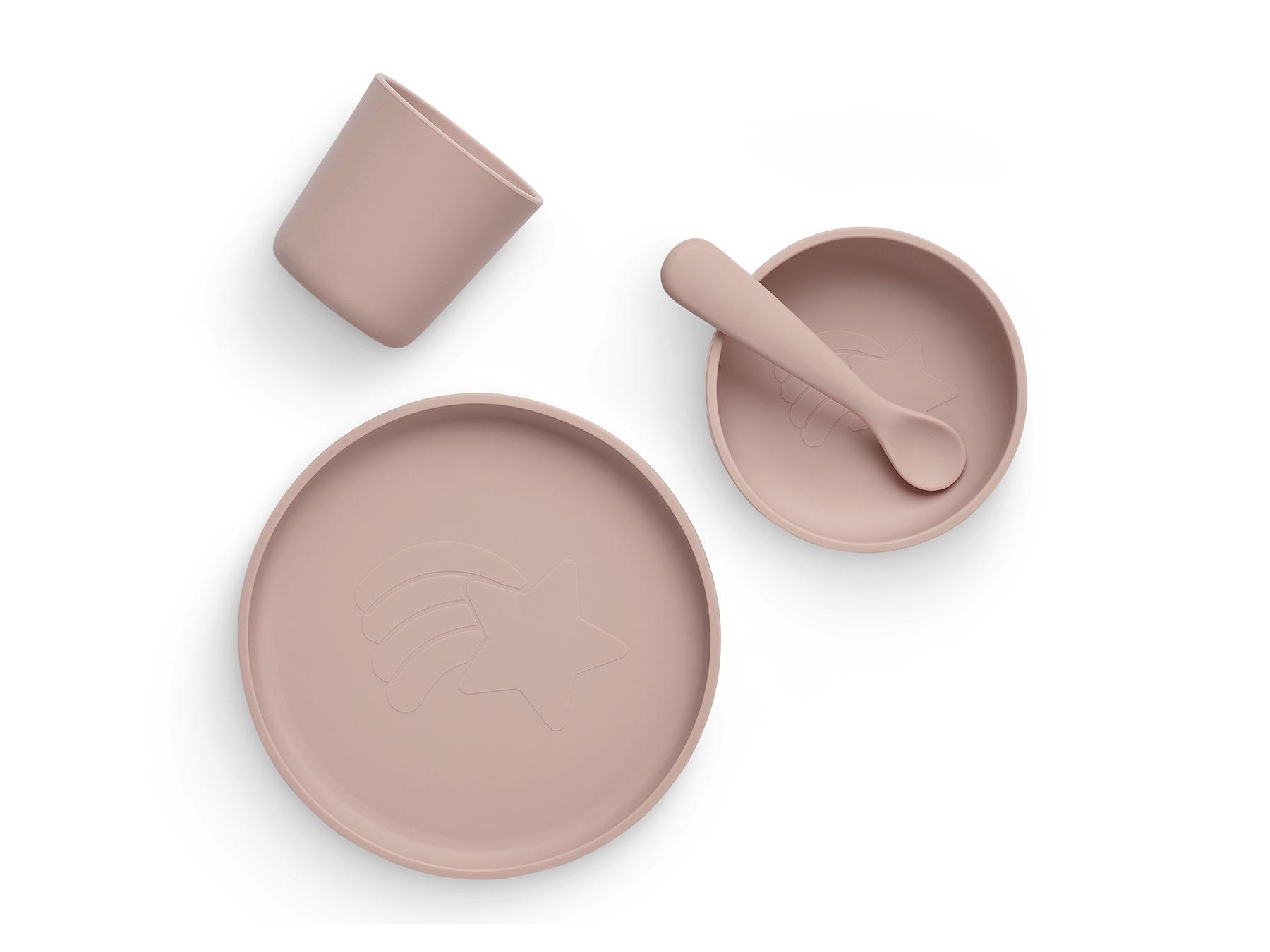 Afbeelding Jollein siliconen eetset I Pale pink