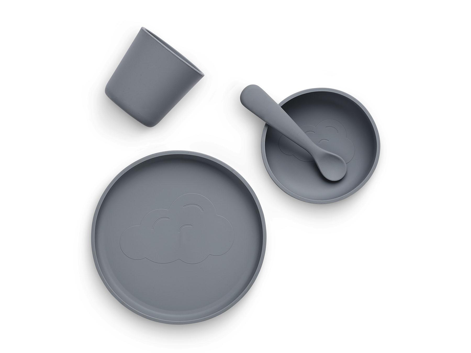 Afbeelding Jollein siliconen eetset I Storm grey