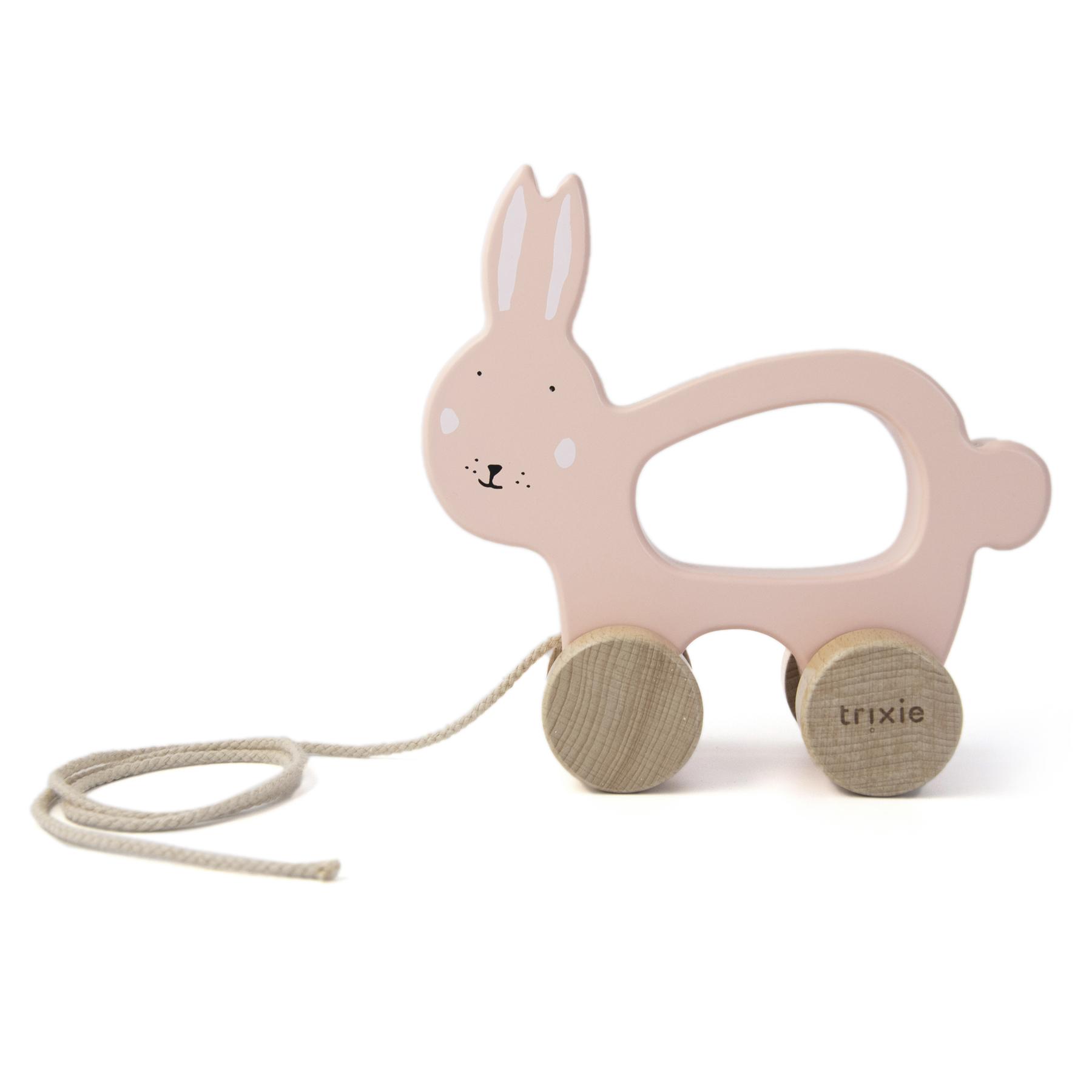 Afbeelding Trixie Houten trekspeeltje I Mrs Rabbit