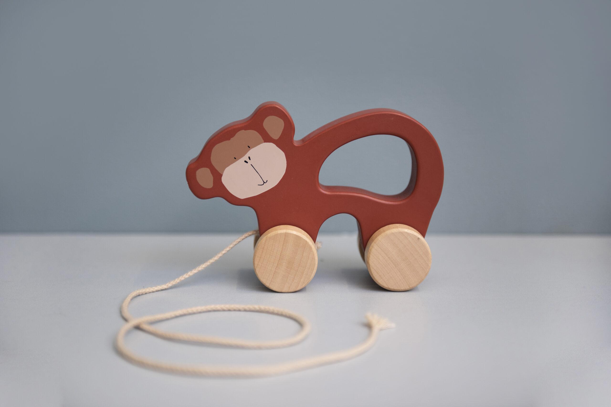 Afbeelding Trixie Houten trekspeeltje I Mr Monkey