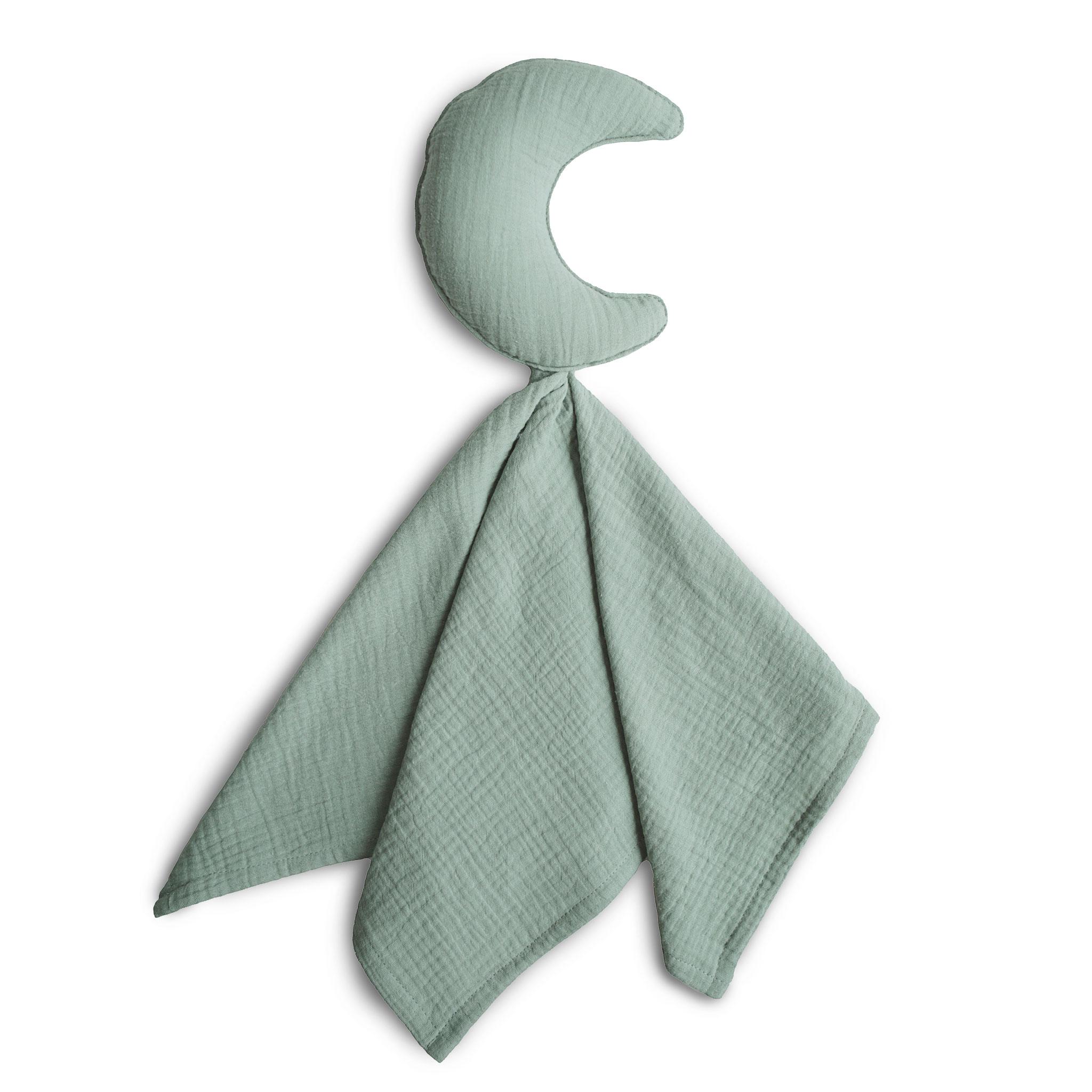 Afbeelding Mushie Lovey Blanket I Moon Roman green