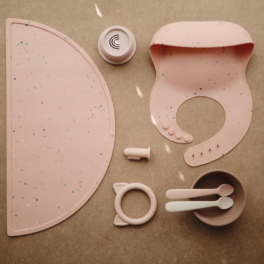 Afbeelding Mushie Siliconen slab I Confetti Pink