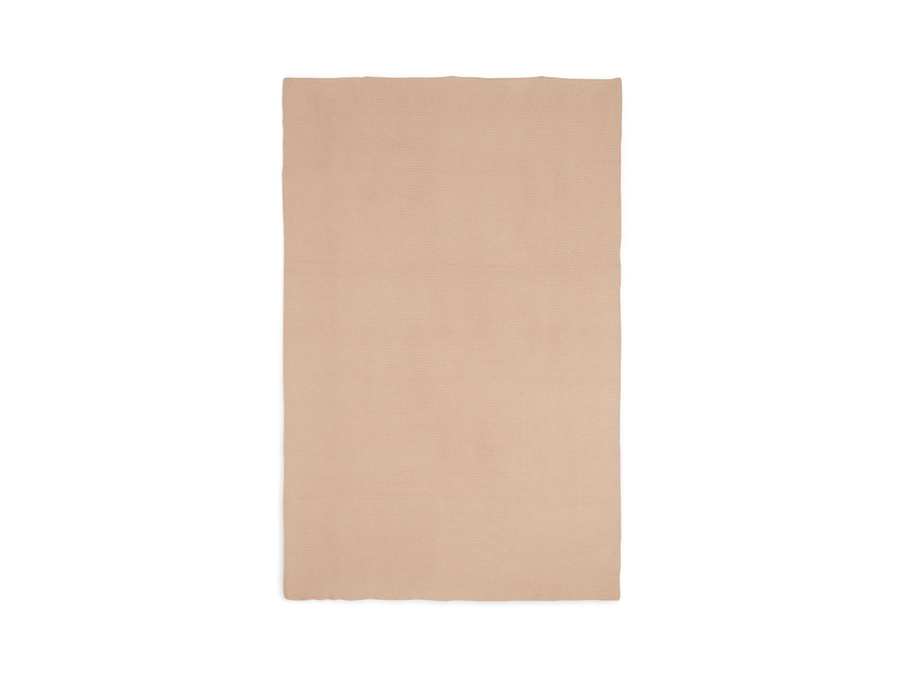 Afbeelding Jollein Deken wieg 75x100cm Basic Knit I Pale Pink