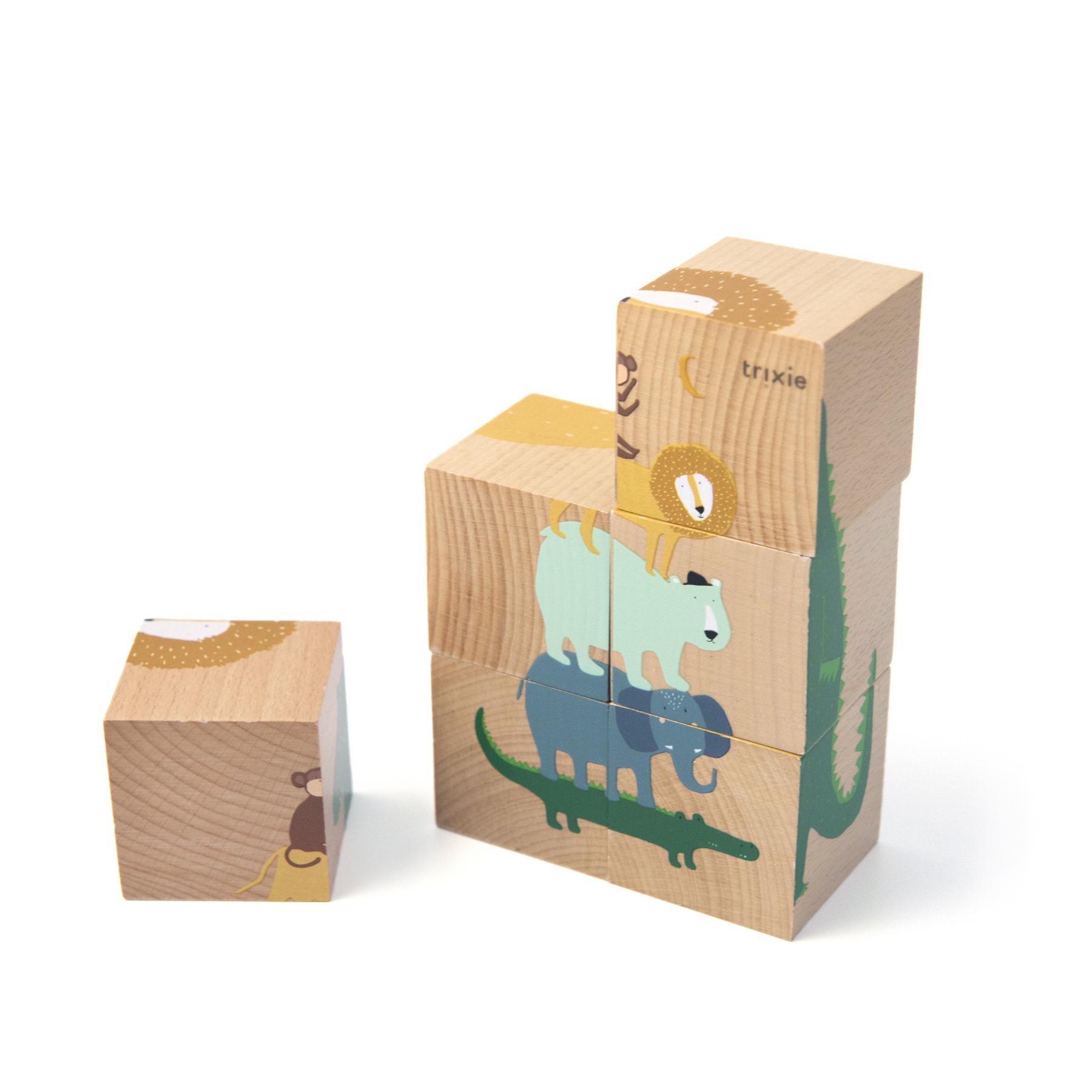 Afbeelding Trixie Houten Puzzelblokken