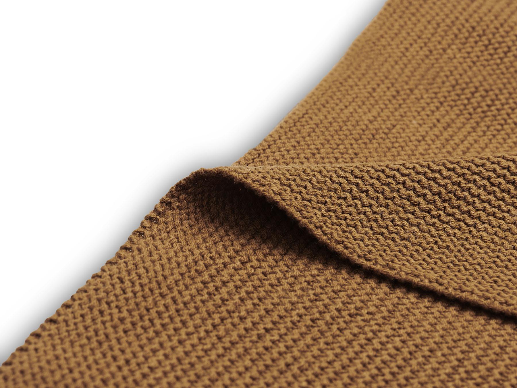 Afbeelding Jollein Deken wieg 75x100cm Basic Knit I Caramel