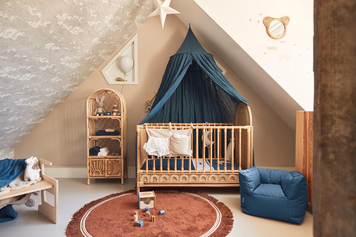 Afbeelding Jollein Deken wieg 75x100cm Basic Knit I Jeans Blue