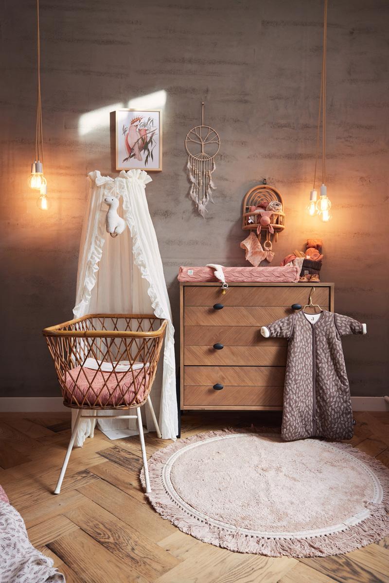 Afbeelding Jollein Deken wieg 75x100cm Spring Knit I Rosewood