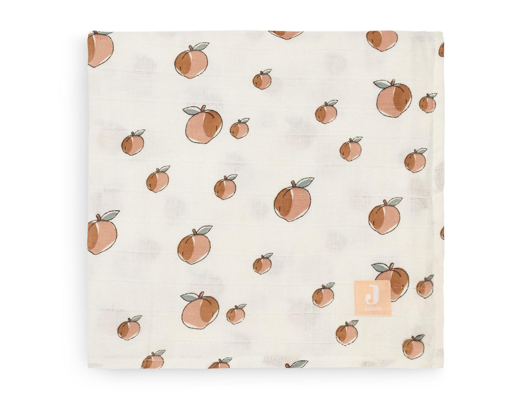 Afbeelding Jollein Hydrofiel multidoek large 115x115cm I Peach (2 pack)