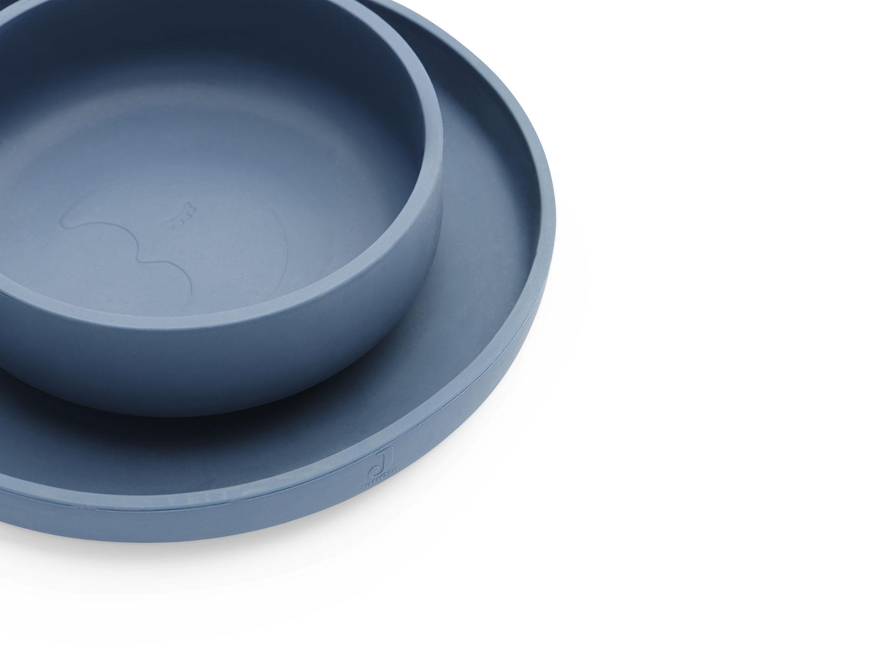 Afbeelding Jollein siliconen eetset I Jeans Blue